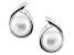 7-7.5mm White Cultured Freshwater Pearl 14k White Gold Earrings