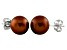 7-7.5mm Chocolate Cultured Freshwater Pearl 14k White Gold Stud Earrings