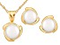 7-7.5mm Cultured Freshwater Pearl 14k Yellow Gold Jewelry Set