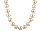 10-10.5mm Pink Cultured Freshwater Pearl Sterling Silver Strand Necklace