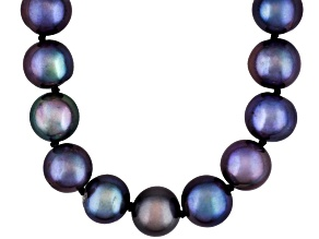 Cultered Freshwater Pearl Rhodium Over Sterling Silver Necklace 8-9mm