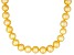 8-9mm Golden Cultured Freshwater Pearl Sterling Silver 18 inch Necklace