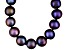 Cultured Freshwater Pearl Rhodium Over Sterling Silver Necklace 8-9mm