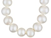 8 To 9mm White Cultured Freshwater Pearl Sterling Silver 20 inch Necklace