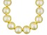 9 To 10mm Golden Cultured Freshwater Pearl Sterling Silver 18 inch Necklace