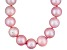 9 To 10mm Pink Cultured Freshwater Pearl Sterling Silver 18 inch Necklace