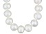 9 To 10mm White Cultured Freshwater Pearl Sterling Silver 18 inch Necklace