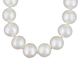 9 To 10mm White Cultured Freshwater Pearl Sterling Silver 20 inch Necklace