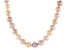 7 To 8mm Pink, Peach & Purple Cultured Freshwater Pearl 18 inch Necklace