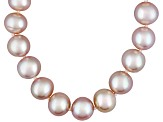 7 To 8mm Pink Cultured Freshwater Pearl Sterling Silver 18 inch Necklace