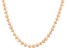 8 To 9mm Peach Cultured Freshwater Pearl Sterling Silver 20 inch Necklace
