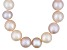9 To 10mm Pink, Peach & Purple Cultured Freshwater Pearl 20 inch Sterling Silver Necklace