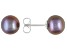 Black Cultured Freshwater Pearl Rhodium Over Sterling Silver Stud Earrings 8-9mm