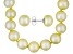 8-9mm Golden Cultured Freshwater Pearl Sterling Silver Stud Earrings & 18 inch Necklace Set