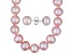 8-9mm Pink Cultured Freshwater Pearl Sterling Silver Stud Earrings & 18 inch Necklace Set