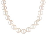 6 To 6.5mm White Cultured Akoya Pearl 14k Yellow Gold 18 inch Necklace
