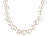 6.5 To 7mm White Cultured Akoya Pearl 14k Yellow Gold 20 inch Necklace