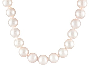 7.5 To 8mm White Cultured Akoya Pearl 14k Yellow Gold 18 inch Necklace