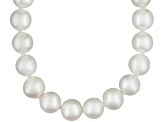 White Cultured Freshwater Pearl Rhodium Over Silver Strand Necklace 36 inch
