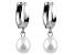 Cultured Freshwater Pearl 14k White Gold Dangle Earrings