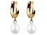 Drop Cultured Freshwater Pearl 14k Yellow Gold Dangle Earrings