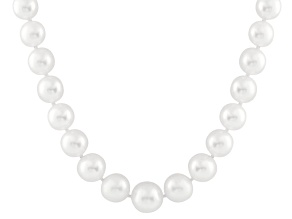 10-13mm White Cultured Australian South Sea Pearl 14k Yellow Gold Strand Necklace 18 inches