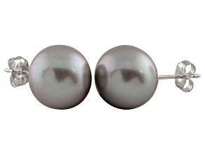9-9.5mm Silver Cultured Freshwater Pearl Sterling Silver Stud Earrings
