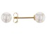 14kt Yellow Gold 4-5mm Cultured Japanese Akoya Pearl Stud Earrings