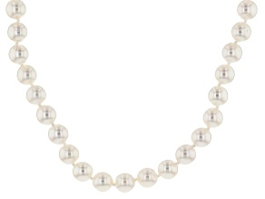 14kt Yellow Gold 8-9mm Cultured Japanese Akoya Pearl Necklace 18 inches