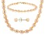 14k Yellow Gold Natural Pink Cultured Freshwater Pearl Set