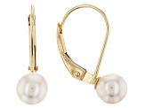 14k Yellow Gold Cultured Freshwater Pearl Leverback Earrings