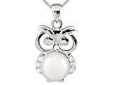 8-9mm Cultured Freshwater Pearl & Bella Luce® Silver Pendant With Chain