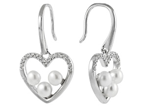 3-4mm Cultured Freshwater Pearl & Bella Luce® Silver Dangle Earrings
