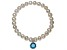 Cultured Freshwater Pearl 7-8mm With Bella Luce ® Charm Stretch Bracelet