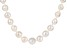 Baroque White Cultured Freshwater Pearl Silver Necklace 20 inch