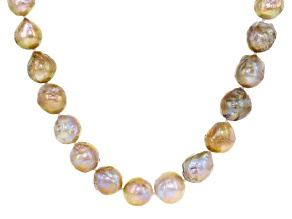 Multi-Color Cultured Freshwater Pearl Silver Necklace 20 inch