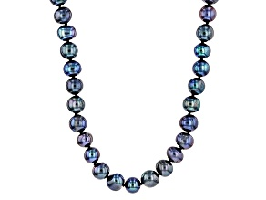Black Cultured Freshwater Pearl Endless Strand Necklace 9-10mm