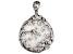 White Mother-Of-Pearl Sterling Silver Filigree Flower Pendant