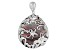 Black Mother-Of-Pearl Sterling Silver Filigree Flower Pendant