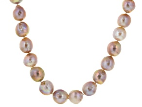 Lavender Cultured Freshwater Pearl Silver Strand Necklace 22 inch