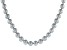 Silver Cultured Freshwater Pearl Rhodium Over Sterling Silver Necklace 9-10mm