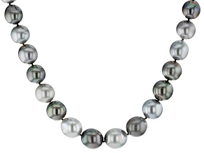Multi-Color Cultured Tahitian Pearl 32 inch Strand Necklace 11-14mm