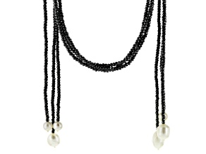 Cultured Freshwater Pearl Hematine Wrap Necklace Set Of 3