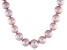 Pink Cultured Freshwater Pearl 14k Yellow Gold Strand Necklace 8.5-11.5mm