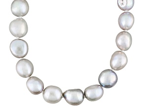 Gray Cultured Freshwater Pearl Endless Strand Necklace 8.5-10mm