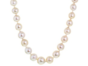 Cultured Freshwater Pearl 14k Yellow Gold Necklace 11-13mm
