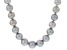 Cultured Freshwater Pearl Rhodium Over Silver Strand Necklace 11-14mm