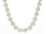 White Cultured Freshwater Pearl Rhodium Over Silver Necklace 11-14mm