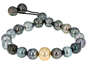 Cultured Tahitian And Golden South Sea Pearl Bracelet 8-10mm