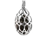Cultured Tahitian Pearl Rhodium Over Sterling Silver Pendant 12mm